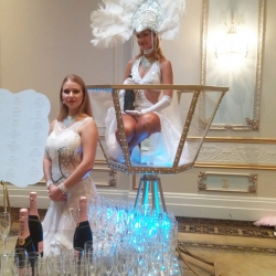 GIANT CHAMPAGNE GLASS BARTENDING