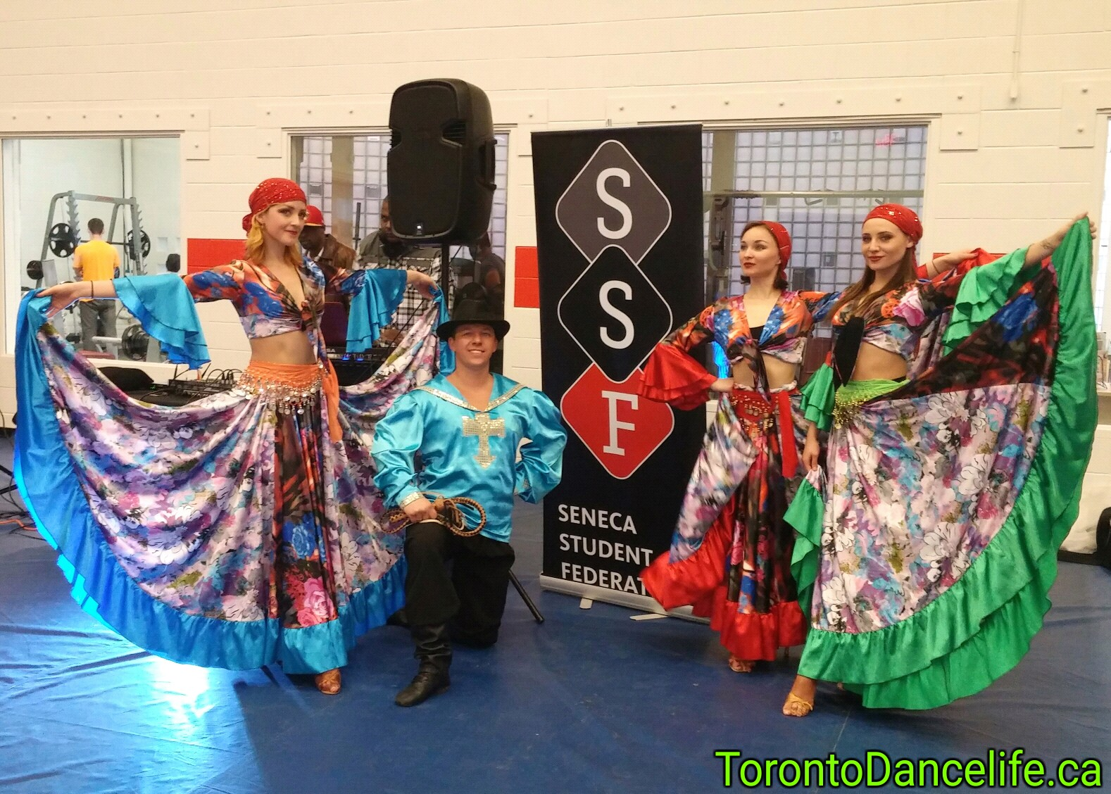 Gypsy dance at Seneca College Event