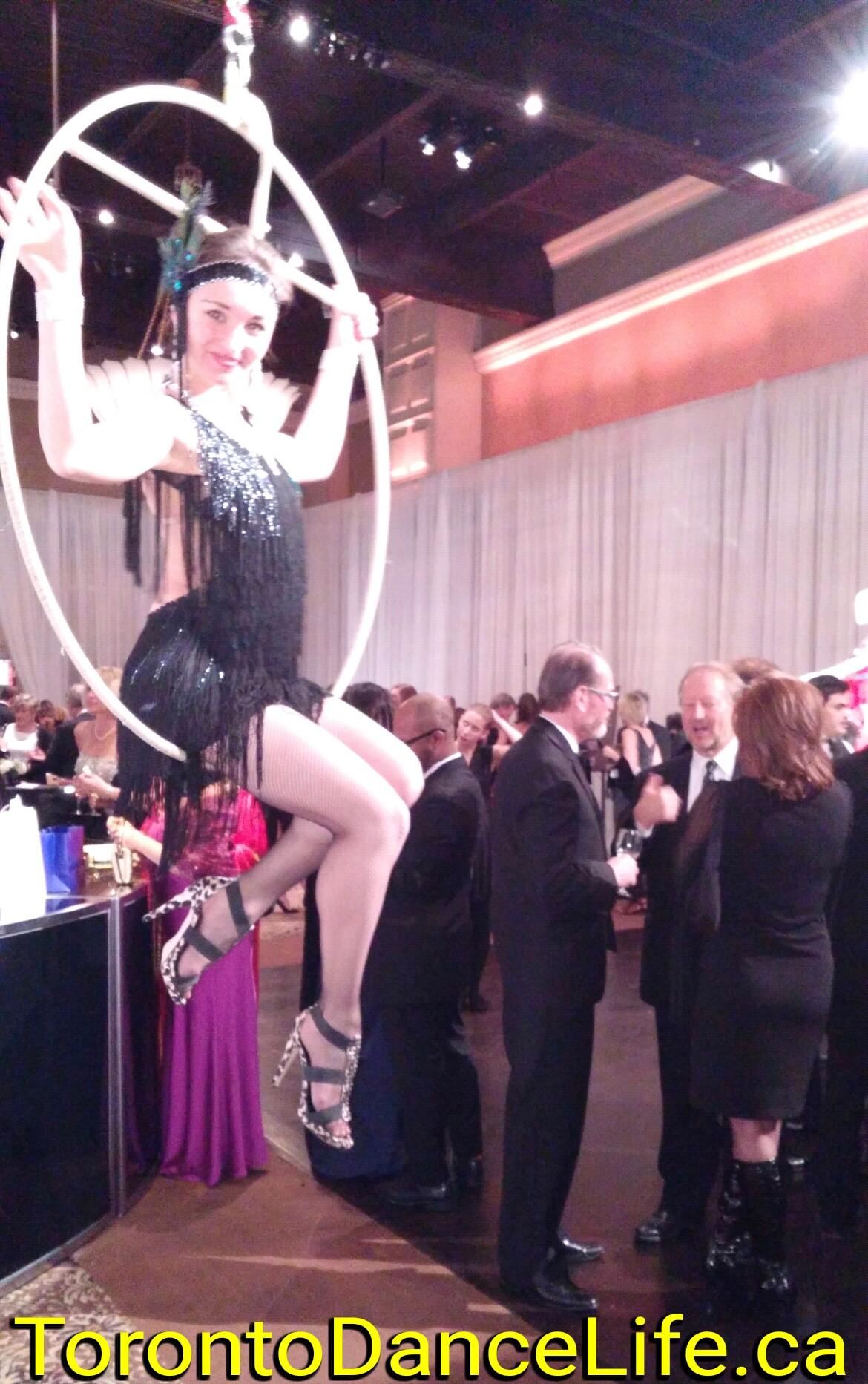 Aerial hoop bartending