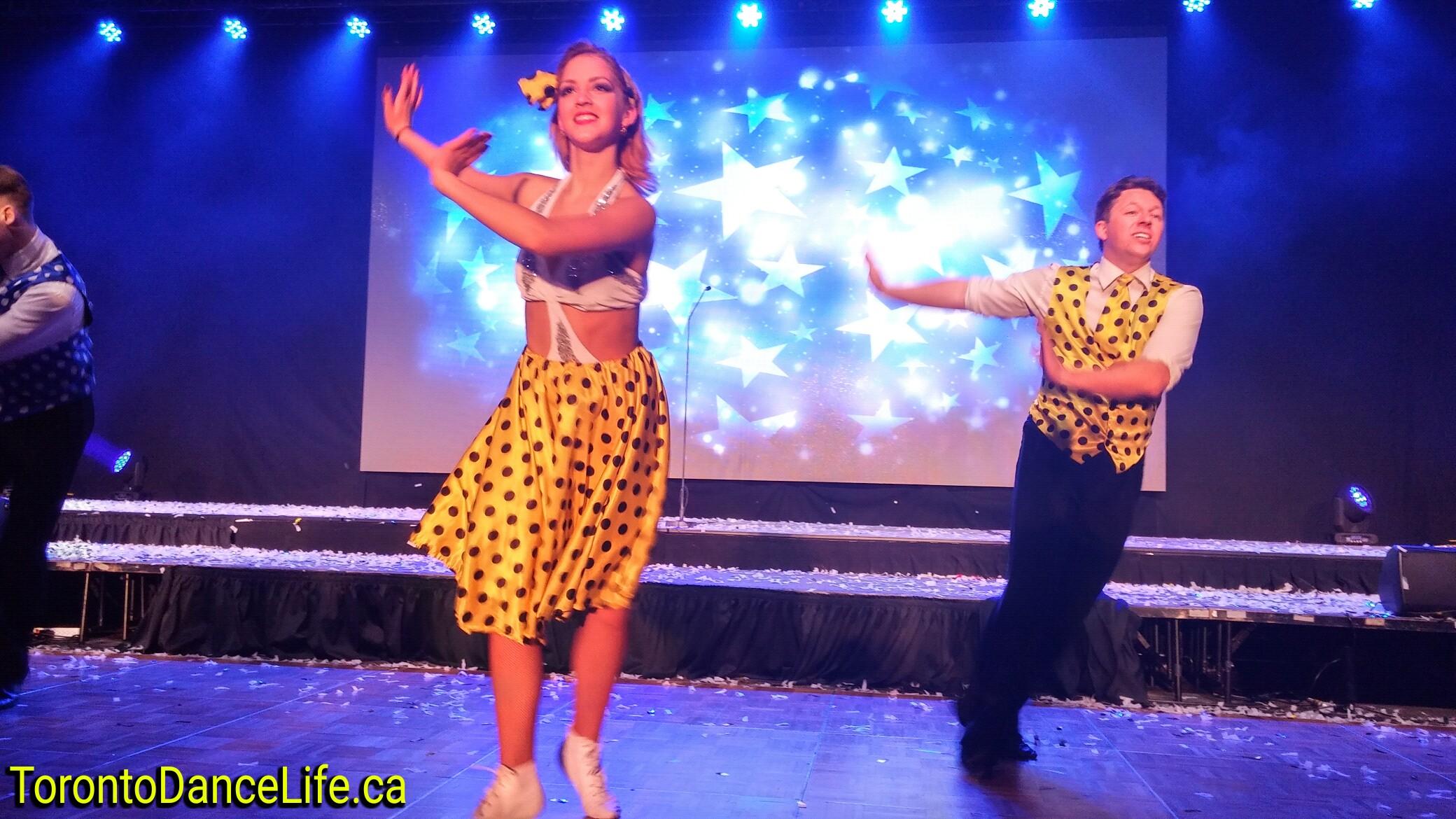 Disco dance performance
