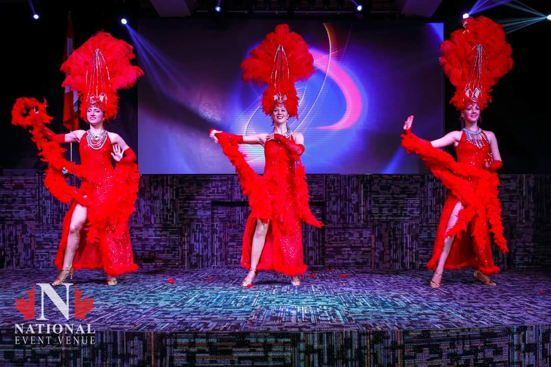 Red Las Vegas dance
