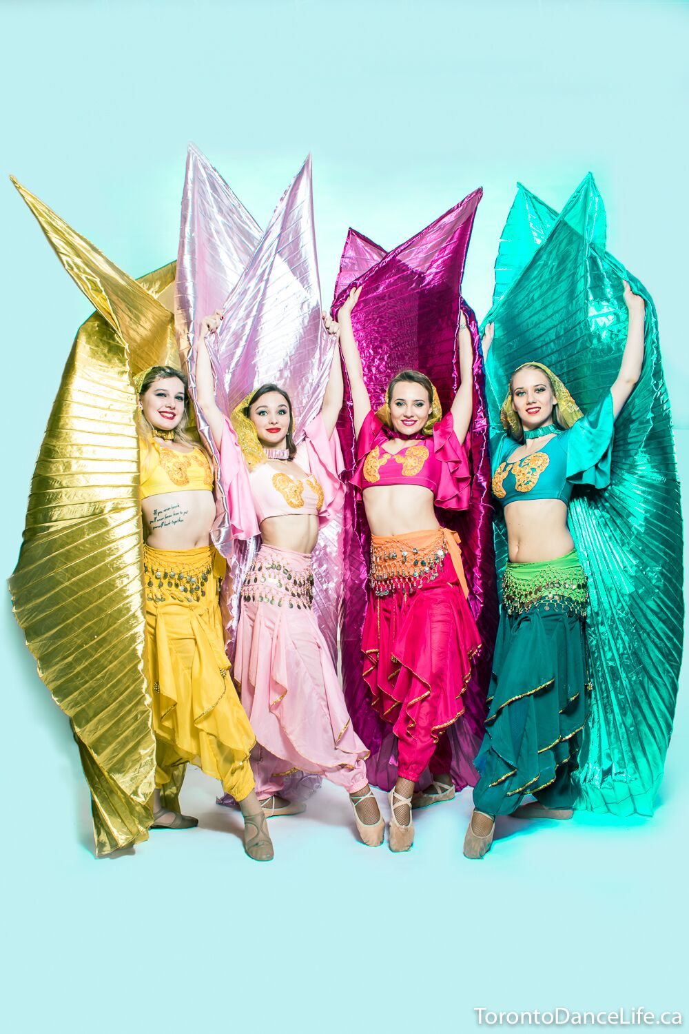 Eastern and Belly dance performance with wings